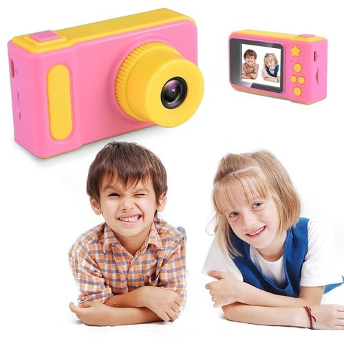 מצלמה דיגיטלית ורוד צהוב